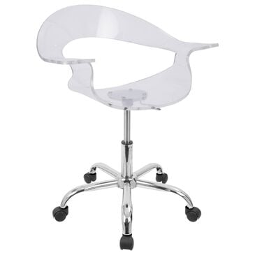 Lumisource Rumor Adjustable Swivel Office Chair in Clear/Chrome, , large