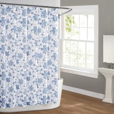 Pem America Cottage Classics Estate Shower Curtain in Blue, , large