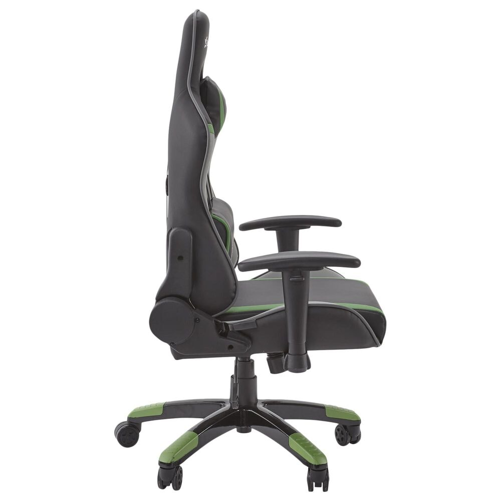 X-Rocker Agility Junior PC Gaming Chair / Green Gray and Black / 2D Arms / No Audio, , large