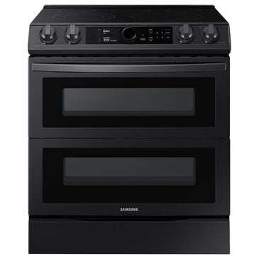 Samsung 6.3 Cu. Ft. Flex Duo Front Control Slide-in Electric Range with Smart Dial, Air Fry and Wi-Fi in Black Stainless Steel, , large