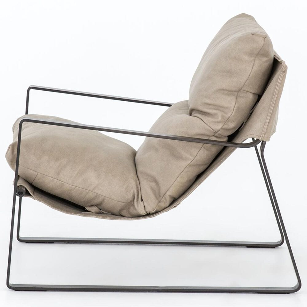 Four Hands Emmett Sling Chair in Gunmetal and Umber Natural, , large
