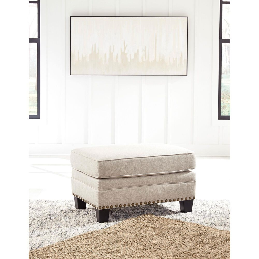 Signature Design by Ashley Claredon Ottoman in Linen, , large