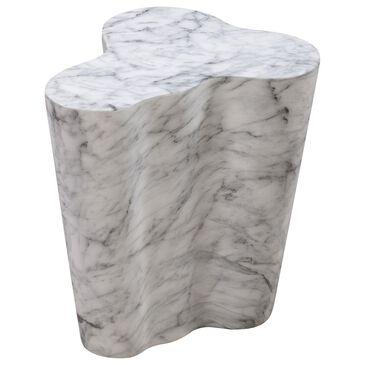 Tov Furniture Slab Short Side Table in White Marble, , large