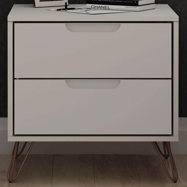 Dayton Rockefeller 2 Drawer Nightstand in Off White, , large