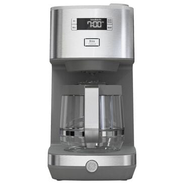 GE Drip Coffee Maker with Glass Carafe in Stainless Steel, , large