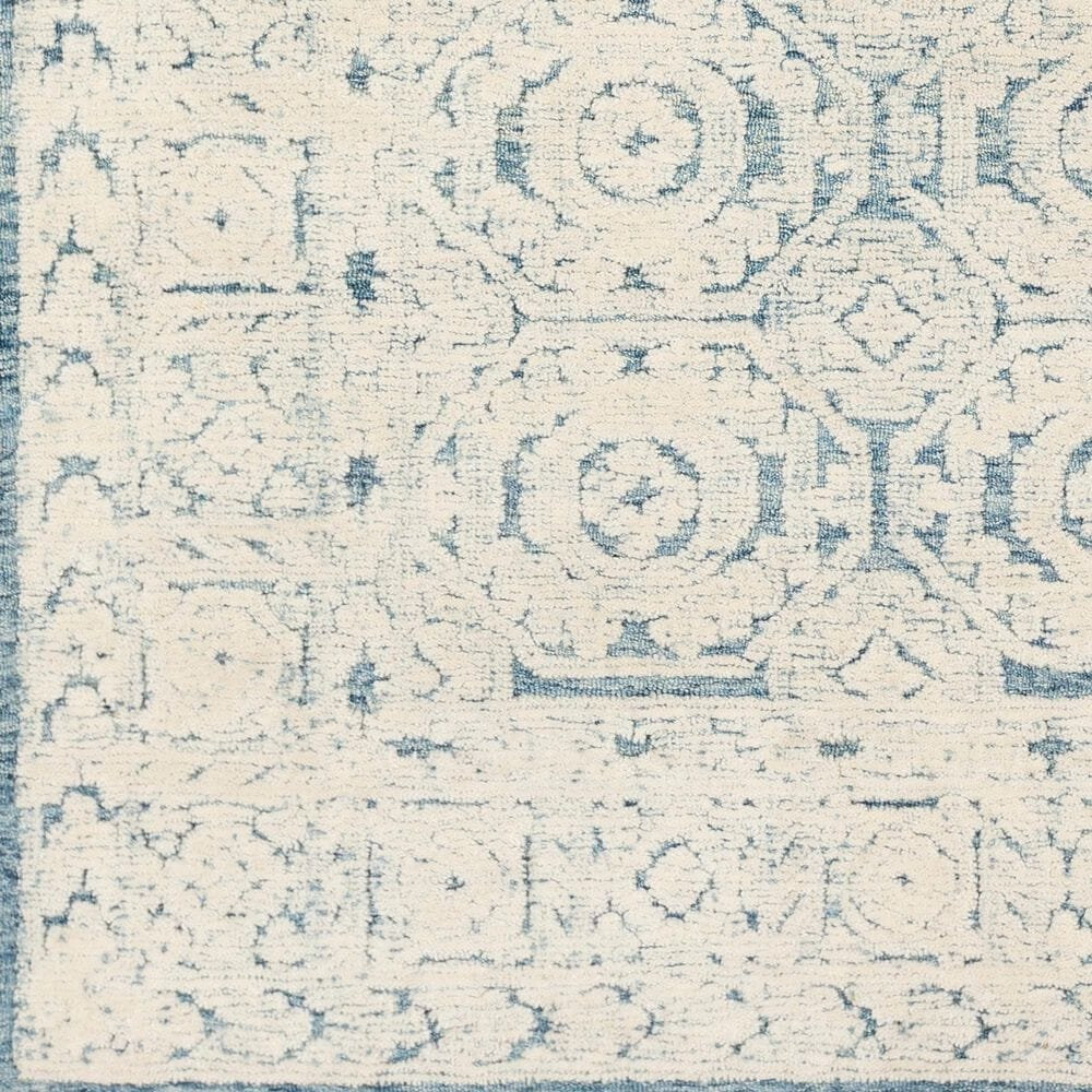 Surya Louvre LOU-2304 8' Round Navy, Ice Blue and Cream Area Rug, , large