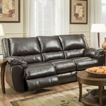 Simmons Upholstery Motion Sofa in Bingo Brown, , large