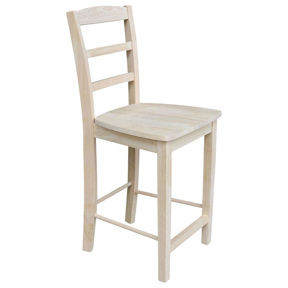 """International Concepts Madrid 24"""" Counter Stool in Unfinished, , large"""