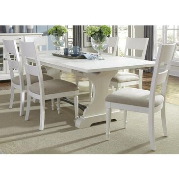 Belle Furnishings Harbor View II 7-Piece Ladder Back Dining Set in Linen, , large