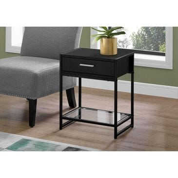 """Monarch Specialties 22"""" Accent Table in Black , , large"""