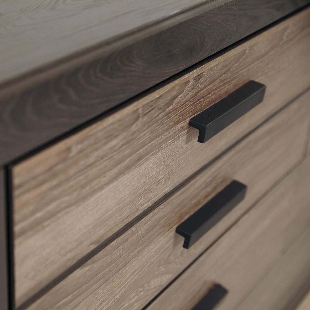 Signature Design by Ashley Harlinton 6 Drawer Dresser in Warm Gray and Charcoal, , large