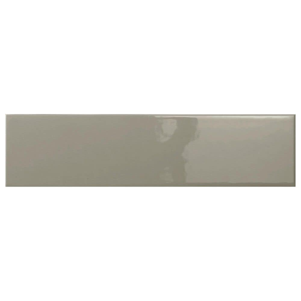 """Emser Catch Taupe 4"""" x 16"""" Glossy Ceramic Tile, , large"""