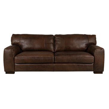"Softline 94"" Leather Sofa in Madison Espresso, , large"
