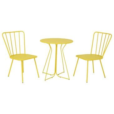DHP Poolside Gossip 3-Piece Patio Bistro Set in Yellow, , large