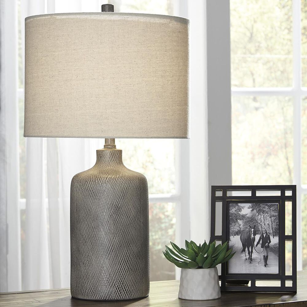 Signature Design by Ashley Linus Table Lamp in Antique Black, , large