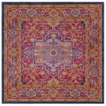 "Surya Harput HAP-1009 6'7"" Square Garnet, Blue and Saffron Area Rug, , large"