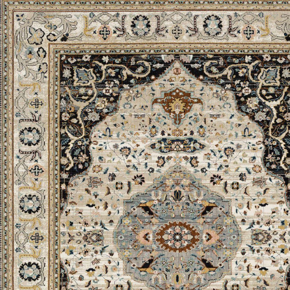 Karastan Zephyr Chronos 92123-90166 8' x 10' Black Area Rug, , large