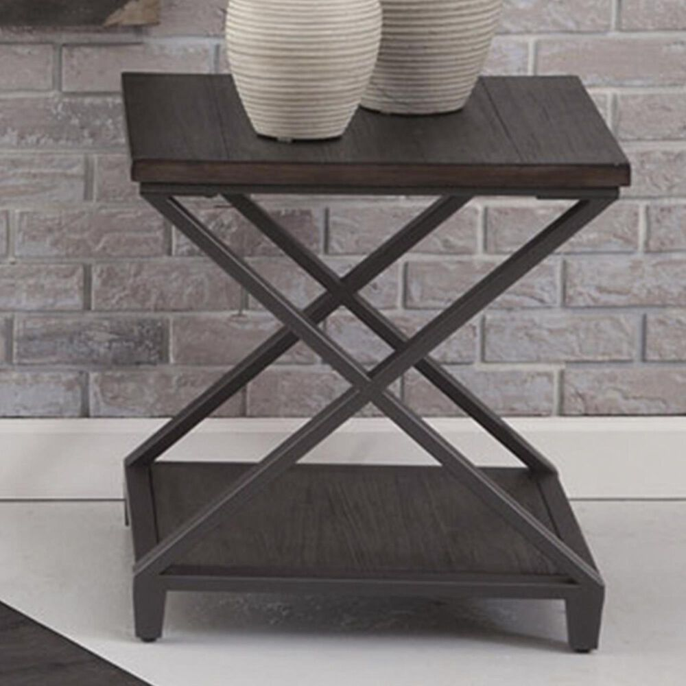 Crystal City Alex End Table in Gray, , large