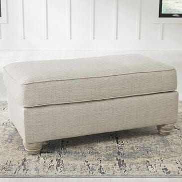 Signature Design by Ashley Traemore Ottoman in Linen, , large