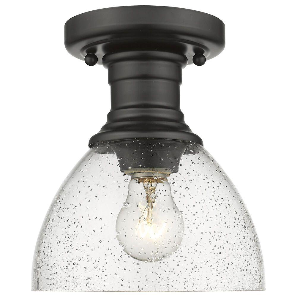 Golden Lighting Hines Semi-Flush in Matte Black, , large