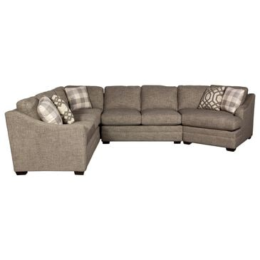 Hickorycraft 3-Piece Sectional in Chaplain Gray with Toss Pillows, , large