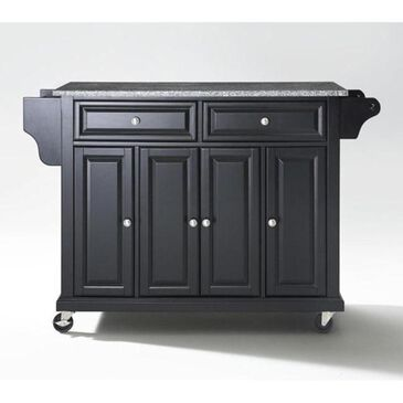 Crosley Furniture Black Solid Granite Top Kitchen Cart, , large