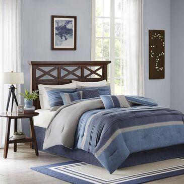 Goldstar Bedding Collins 7-Piece Queen Comforter Set in Navy, , large
