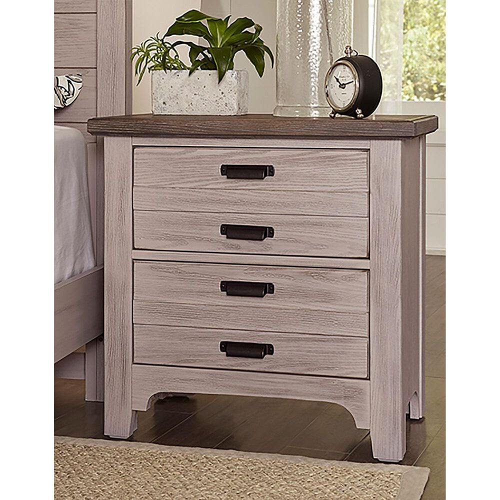 Viceray Collections Bungalow 2 Drawer Nightstand in Dover Grey and Folkstone, , large