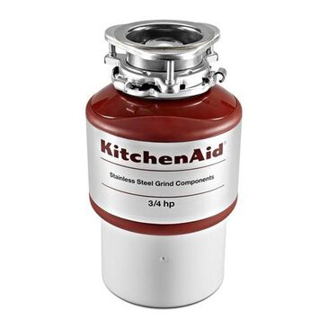 KitchenAid 3/4 Horsepower Continuous Feed Food Waste Disposer, , large