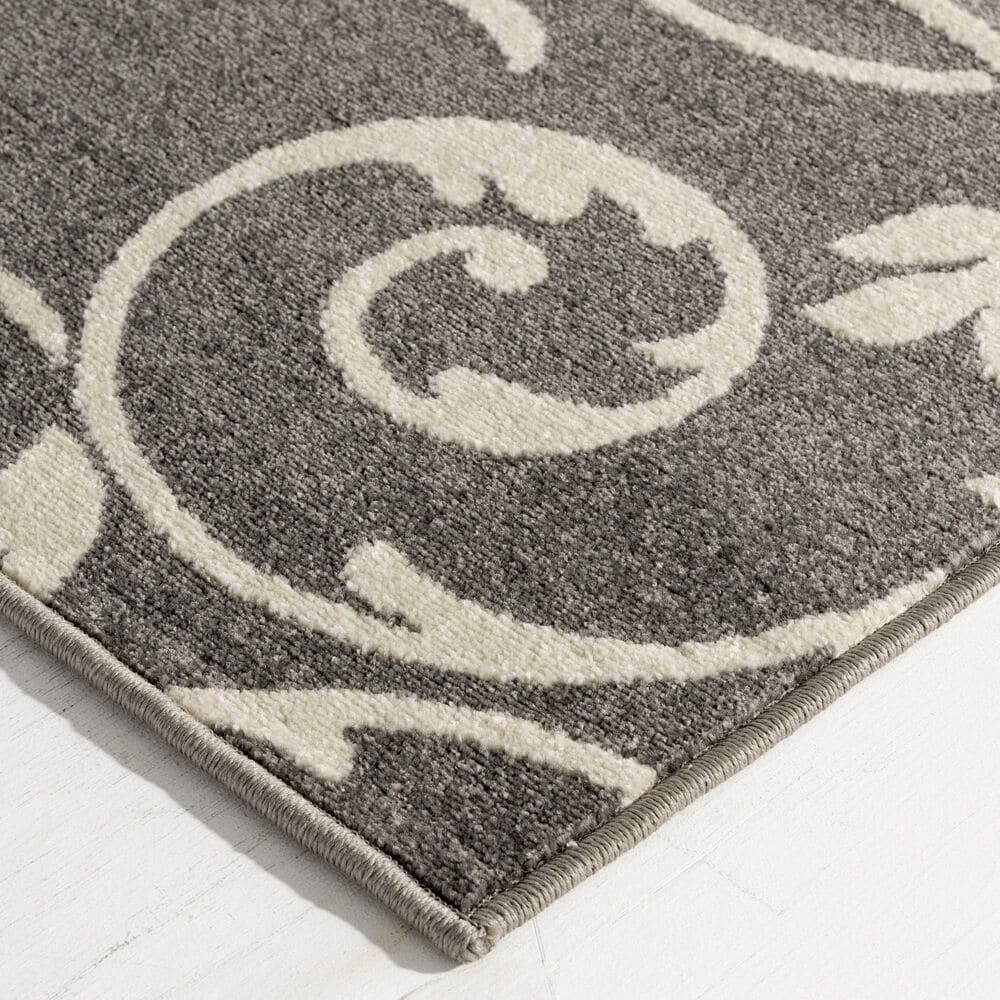 """Central Oriental Terrace Tropic Macala 2327TW.084 7'10"""" x 9'10"""" Stone and Snow Area Rug, , large"""