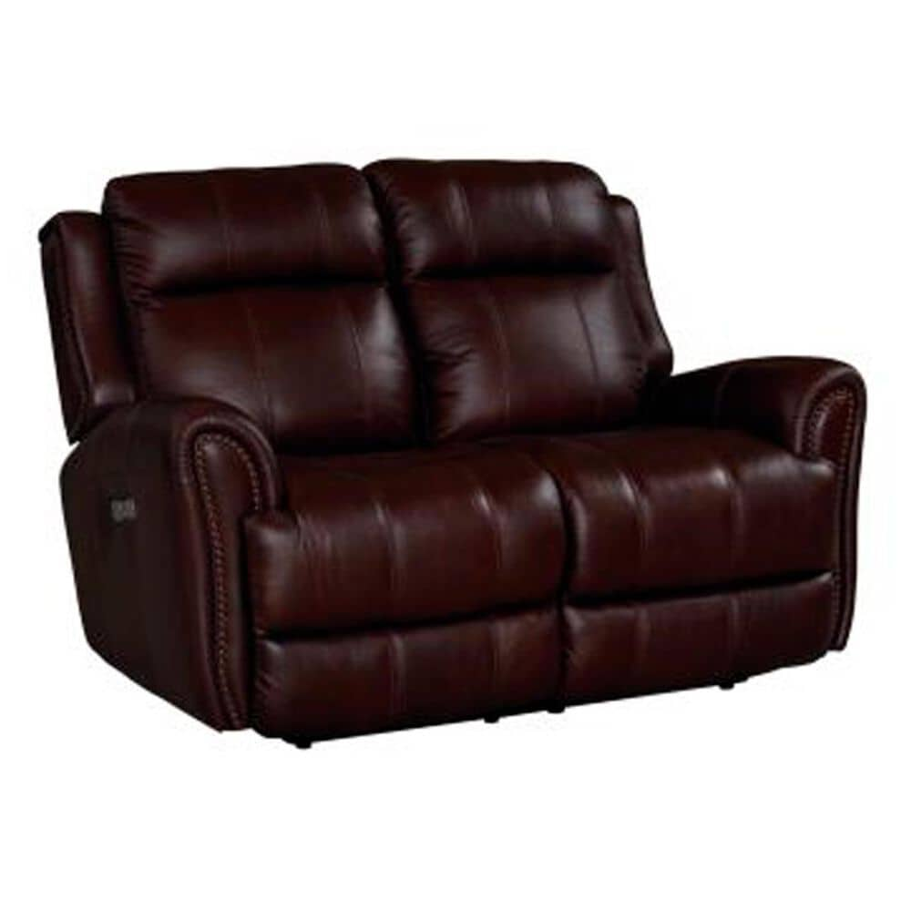 Dawson Lane Marquee Leather Power Reclining Loveseat with Power Headrest in Chocolate, , large