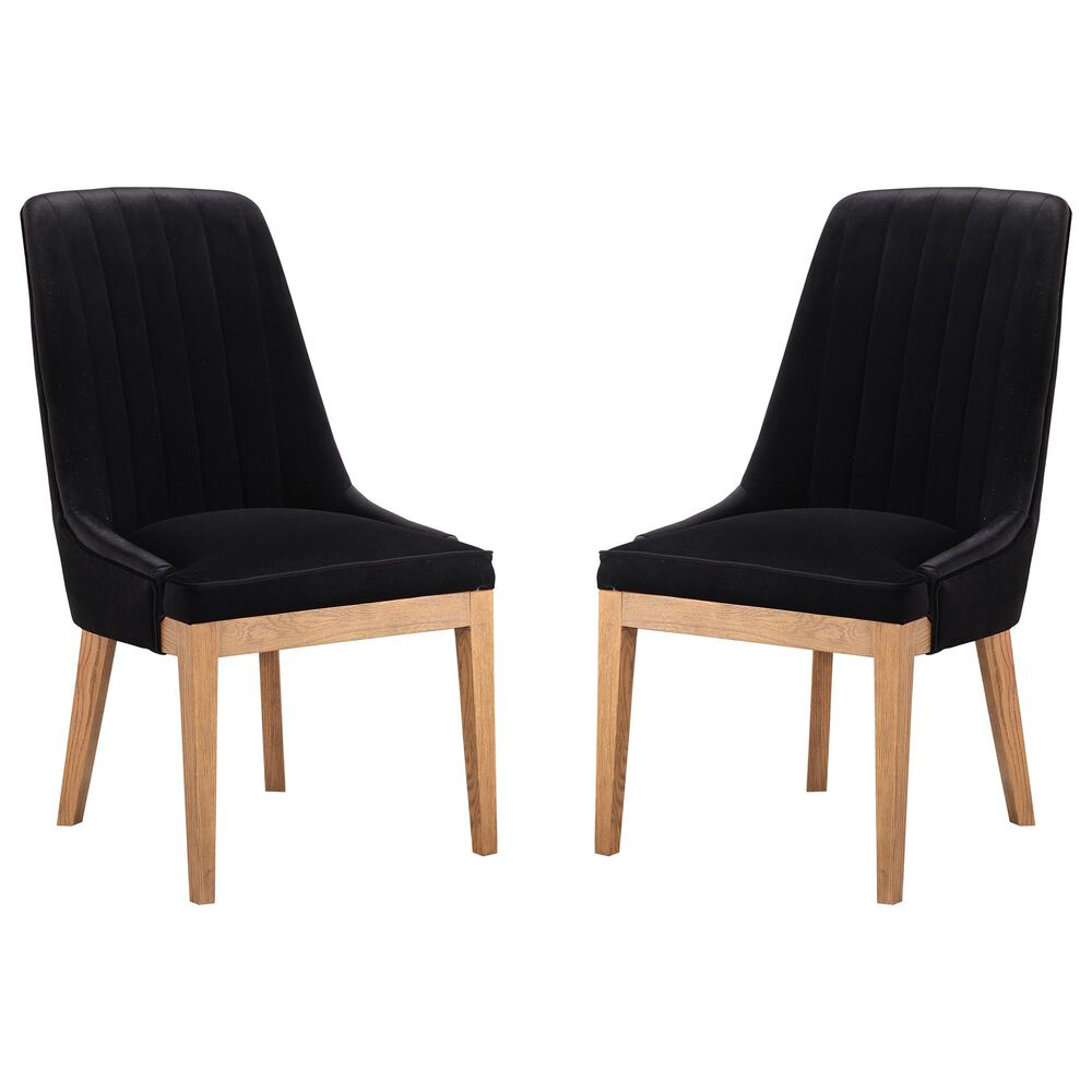 Moe's Home Collection Mia Dining Chair in Black (Set of 2), , large