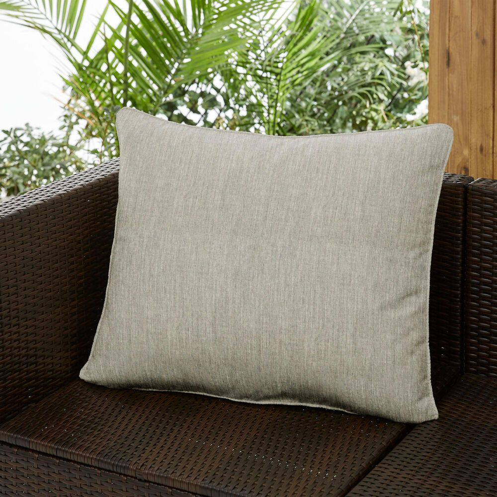 "Sorra Home Sunbrella 22"" x 27"" Pillow in Canvas Granite, , large"