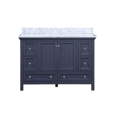 "Aurafina Cunningham 48"" Vanity with Top and Sink in Harbor Blue, , large"