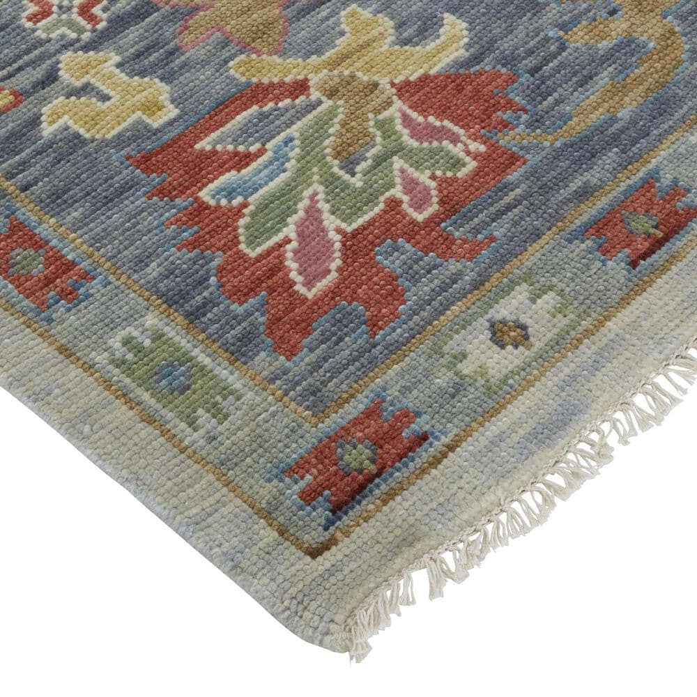 """Feizy Rugs Karina 2'6"""" x 8' Blue and Gray Runner, , large"""