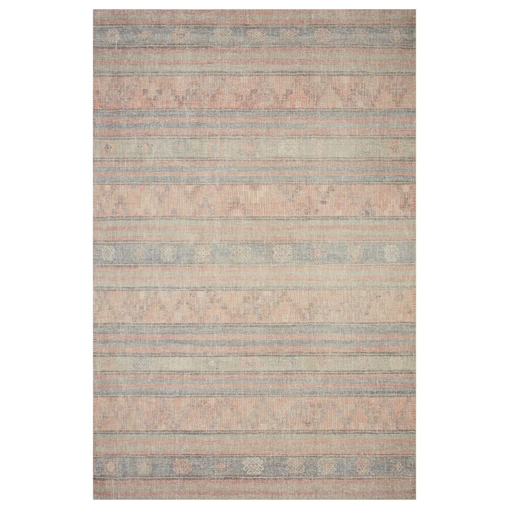 """ED Ellen DeGeneres Crafted by Loloi Alameda ALA-02 2'6"""" x 12' Persimmon and Sky Runner, , large"""