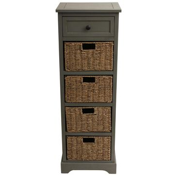 Jimco Montgomery 5-Drawer Chest in Antique Grey, , large