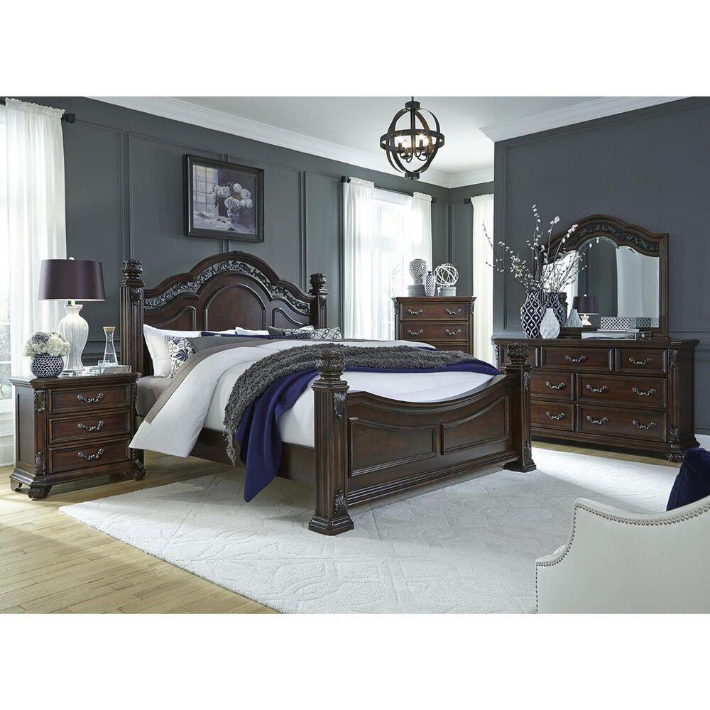 Belle Furnishings Messina Estates 3 Drawer Nightstand in Cognac, , large