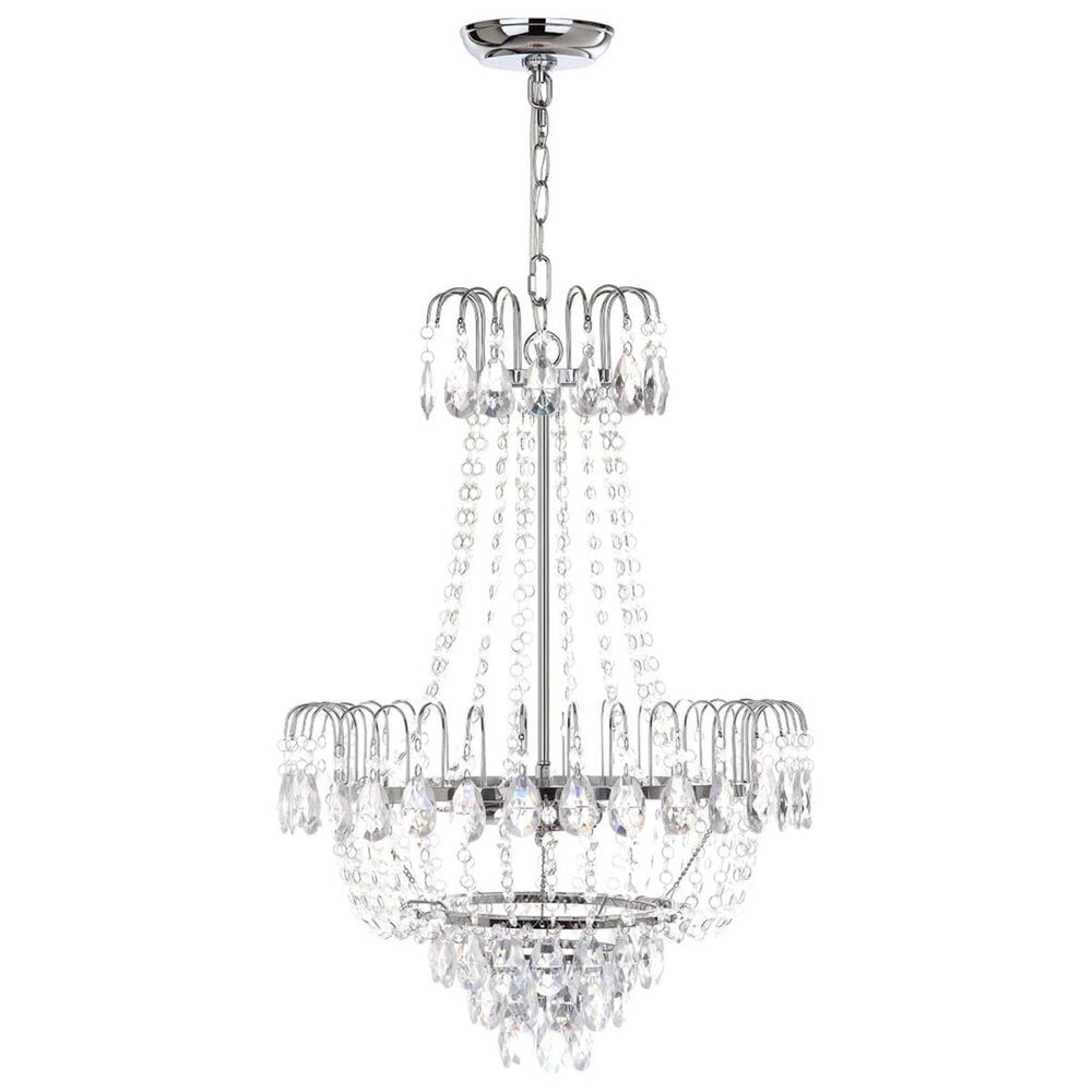 "Safavieh Sonja 18"" 3-Light Pendant in Chrome/Clear, , large"