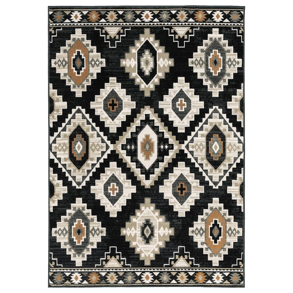"Oriental Weavers Georgia Southwest 605F0 9""10"" x 12""10"" Charcoal Area Rug, , large"