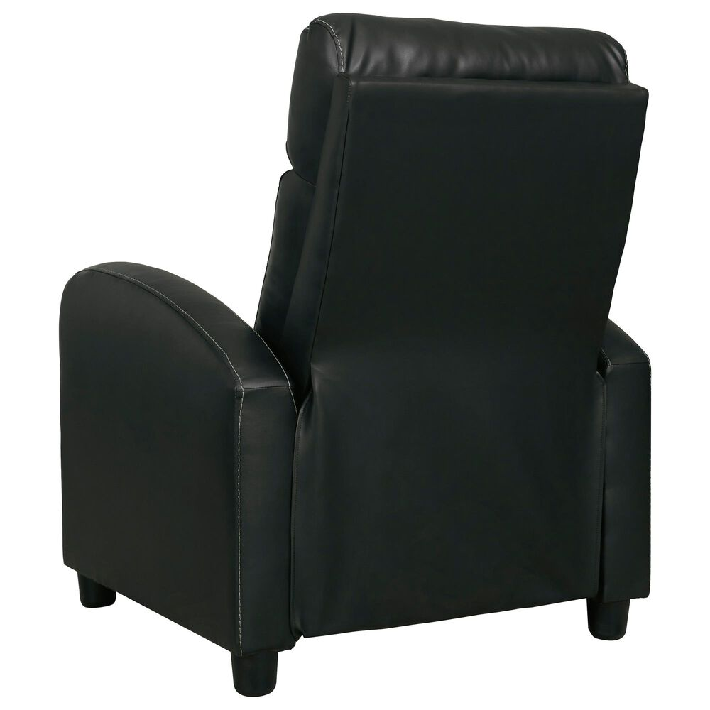 Signature Design by Ashley Declo Low Leg Recliner in Black, , large