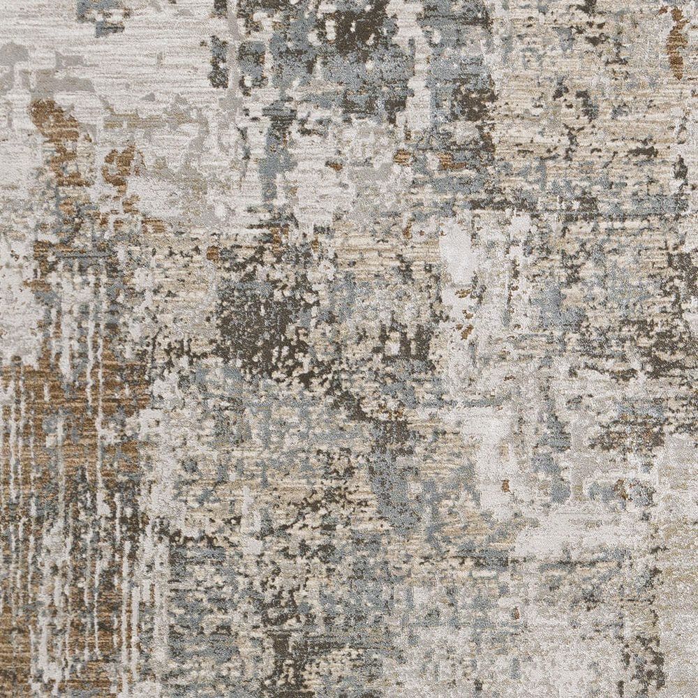 Surya Brunswick 2' x 3' Sage, Brown, Gray, White and Teal Area Rug, , large