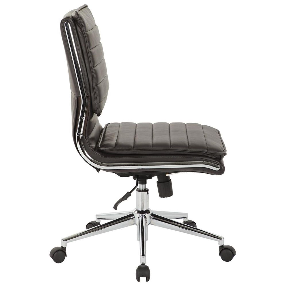 OSP Home Armless Manager Chair in Espresso, , large