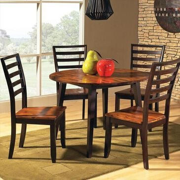 Crystal City Abbaco 5-Piece Dining Set in Cordovan Cherry, , large