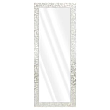 BP Industries Birdie Narrow Leaner Mirror in White with Silver, , large