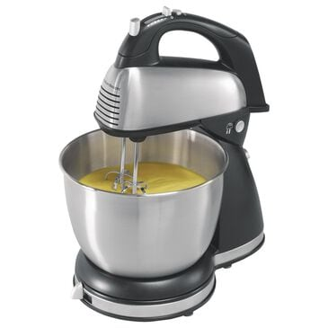 Hamilton Beach 6 Speed Classic Hand/Stand Mixer in Silver, , large
