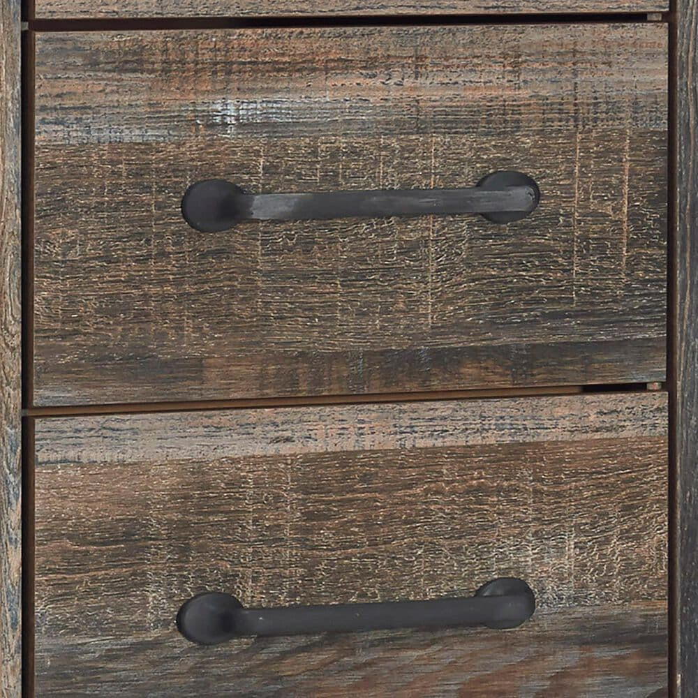 Signature Design by Ashley Drystan 5 Drawer Lingerie Chest in Burnt Orange and Teal, , large