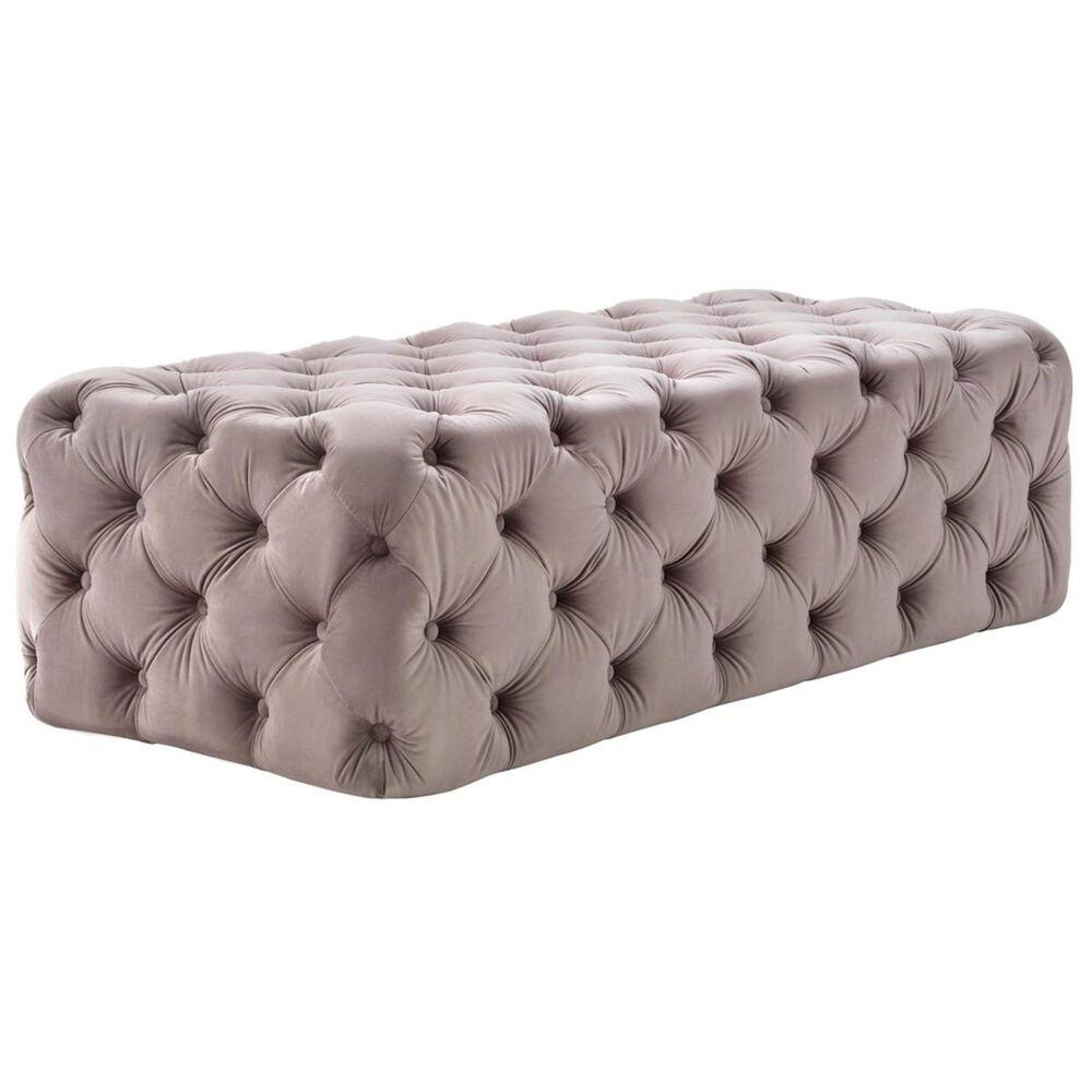 Tov Furniture Kaylee Ottoman in Mauve Velvet, , large