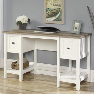 Sauder Cottage Road Desk in Soft White, , large