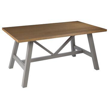 Southern Enterprises Hambleden Dining Table in Natural/Light Gray, , large
